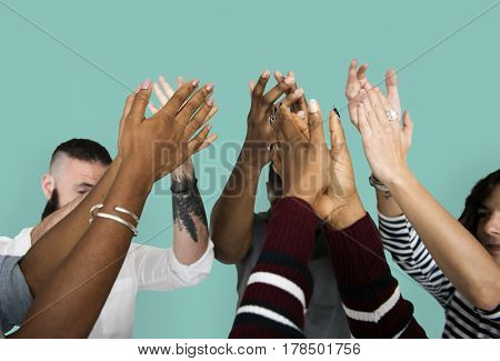 Diverse People Clapping Hands Friendship