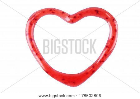Heart made from raspberry jam Cooked, Passion, Darling, Lover, Dear, Sweetheart, Boyfriend