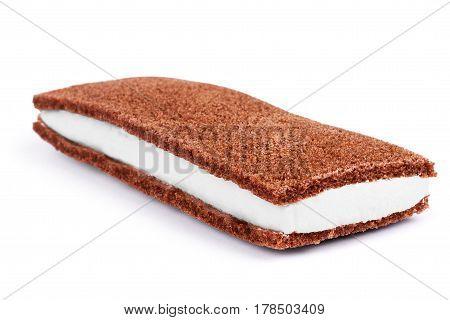 Sponge cake on a white background Sugar, Strawberry, Strawberries, Jam, Layer, Sandwich, Butter, English, British, Whipped