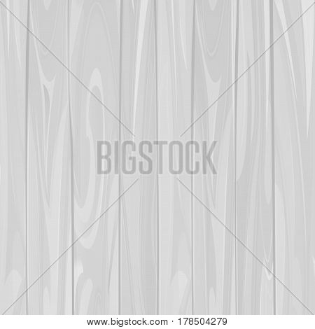 Vector white retro wood textured background with vertical planks, grunge vintage wooden texture timbers