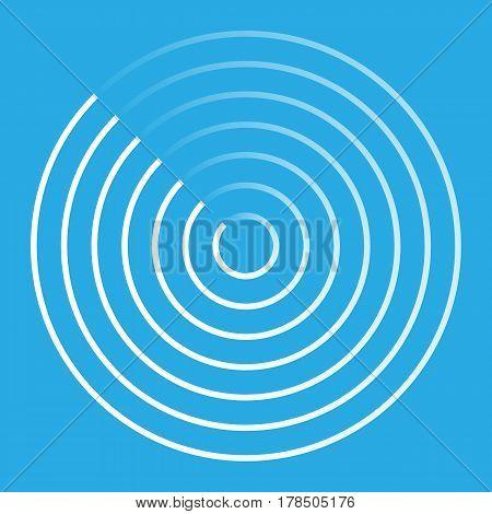 radar abstract icon symbol logo vector illustration