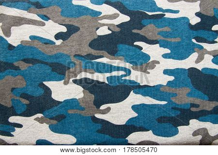 Close up pattern texture of soldier camouflage fabric