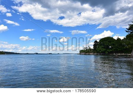 A beautiful summer's day in Casco Bay Maine.