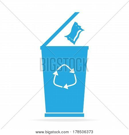 Trash bin icon symbol flat icon vector illustration