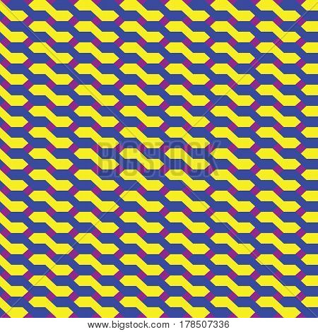 seamless abstract geometric pattern made of knitts
