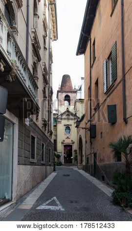 Vicolo S. Matteo Streets Of The Old City Of Verona