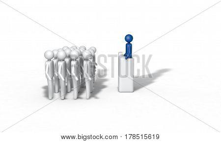 Background Of The People Speak Concept, 3D Render