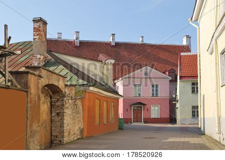 Tallinn Estonia. Old houses in the historical part of the city