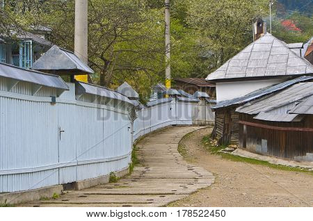 Aspect from the village located near one of the most famous nuns' monateries Agapia in northen Moldavia Romania.The village is known as the homeplace of one of the most famous Romanian writers Al.Vlahuta.