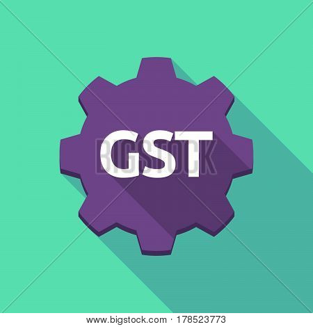 Long Shadow Gear With  The Goods And Service Tax Acronym Gst