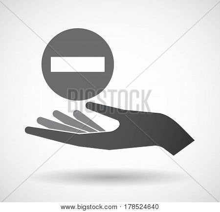 Isolated Hand With  A No Trespassing Signal