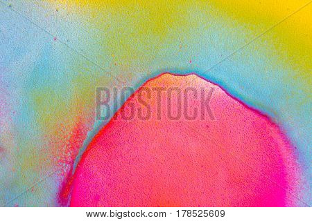 Abstract colorful fluorescent blue yellow pink color