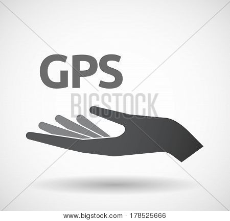 Isolated Hand With  The Global Positioning System Acronym Gps