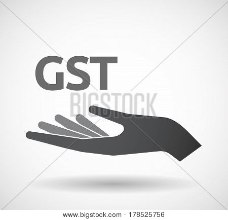Isolated Hand With  The Goods And Service Tax Acronym Gst