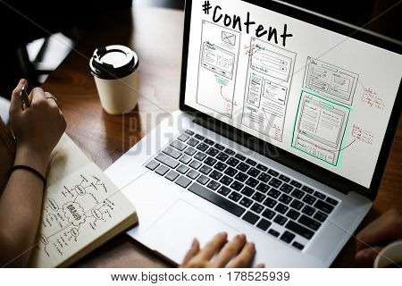 Webpage Content Design Website Icon