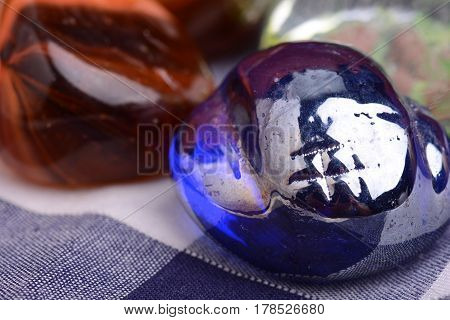 Close Up View Of Big Blue Stone Background.