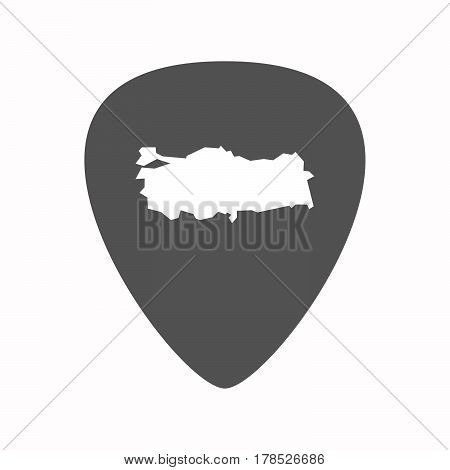 Isolated Guitar Plectrum With
