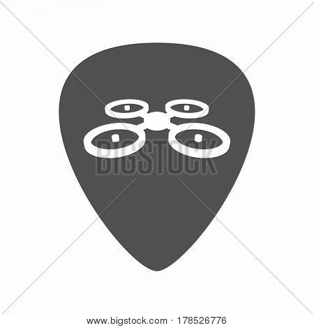 Isolated Guitar Plectrum With  A Quadcopter Drone