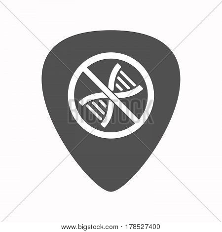 Isolated Guitar Plectrum With  A Dna Sign In A Not Allowed Signal