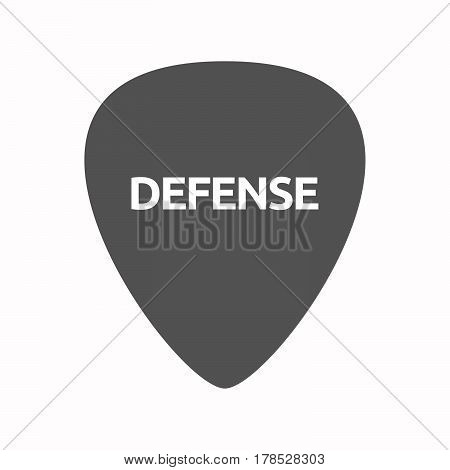 Isolated Guitar Plectrum With  The Text Defense