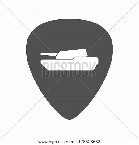 Isolated Guitar Plectrum With  A Combat Tank