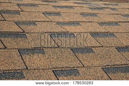 Asphalt Shingles Photo. Roof Shingles - Roofing Construction Roofing Repair.