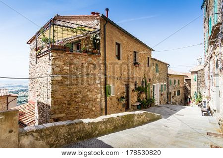 Campiglia Marittima is a comune (municipality) in the Province of Livorno in the Italian region Tuscany located about 90 kilometres (56 mi) southwest of Florence