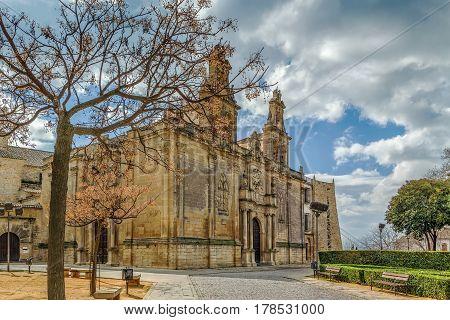Basilica de Santa Maria de los Reales Alcazares is a Spanish national monument Ubeda Spain