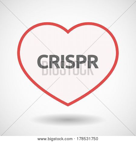 Isolated Line Art Heart With  The Clustered Regularly Interspaced Short Palindromic Repeats Acromym