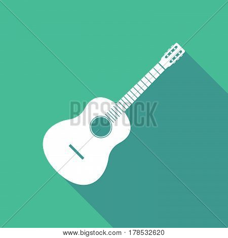 Illustration Of   A Six String Acoustic Guitar