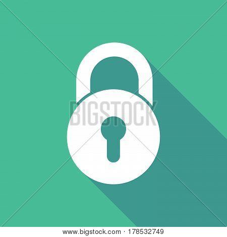 Illustration Of  A Closed Lock Pad
