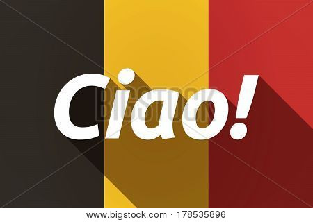 Long Shadow Germany Flag With  The Text Hello! In The German Language