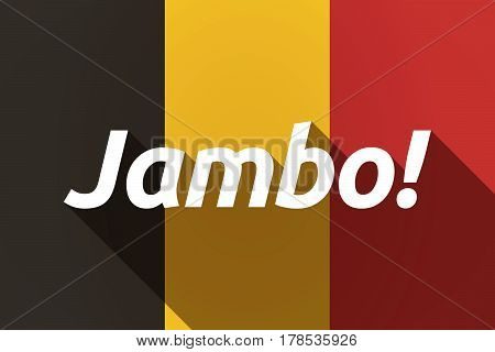 Long Shadow Germany Flag With  The Text Hello! In The Swahili Language