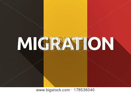 Long Shadow Germany Flag With  The Text Migration
