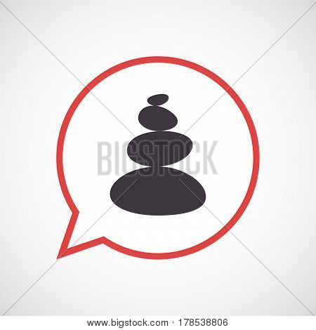 Isolated Comic Balloon With  A Stacked Zen Stones