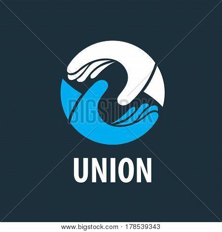 Logo design template handshake. Vector illustration of icon