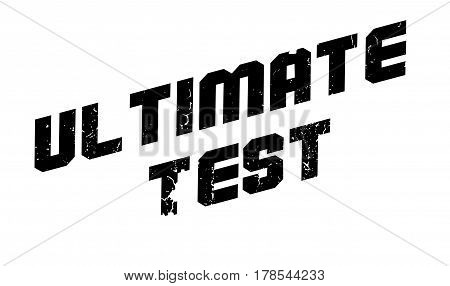 Ultimate Test rubber stamp. Grunge design with dust scratches. Effects can be easily removed for a clean, crisp look. Color is easily changed.