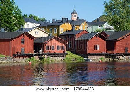 Summer landscape of the old city. Porvoo, Finland