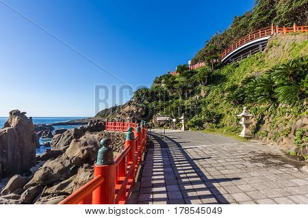 Udo Jingu, A Shinto Shrine Located On Nichinan Coastline, Kyushu, Japan