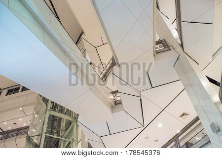 Interiors ceiling in mall in door view