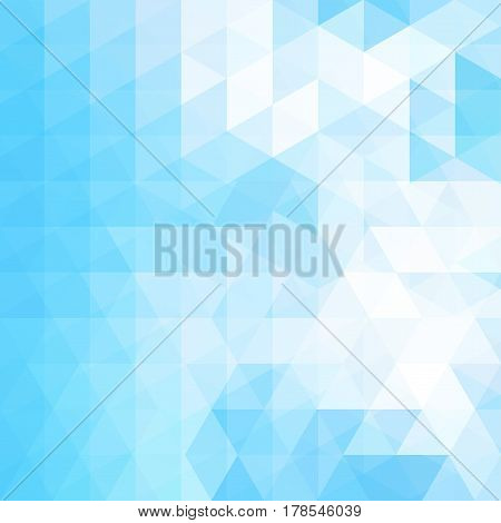 Abstract Geometric Style Background. Blue, White Colors. Vector Illustration