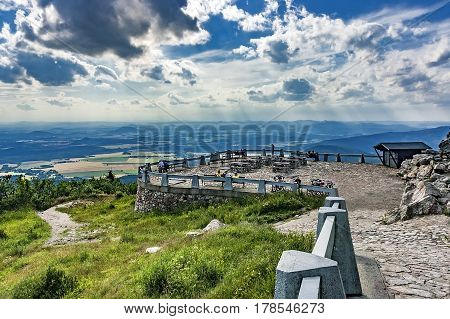 View of the summer landscape of Jested/Czech Republic/