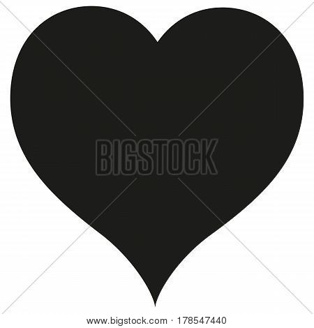 Heart icon vector love illustration health symbol button concept drawing.