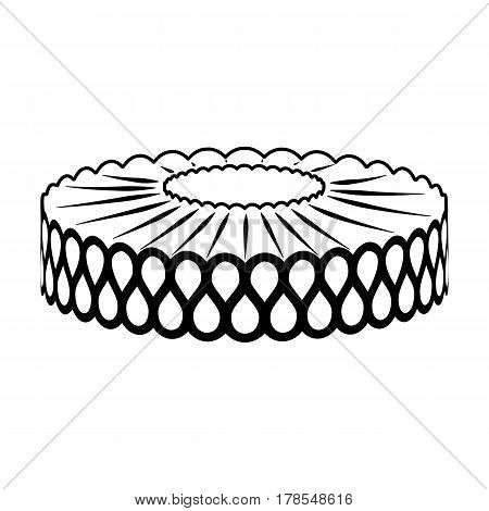 vector image of collar on a white background