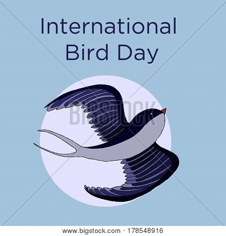 National Bird Day Vector Illustration.