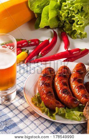 Grilled Sausage.