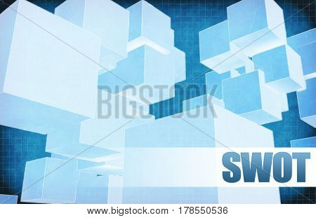 Swot on Futuristic Abstract for Presentation Slide