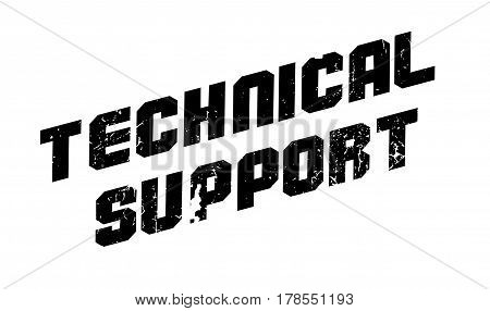 Technical Support rubber stamp. Grunge design with dust scratches. Effects can be easily removed for a clean, crisp look. Color is easily changed.