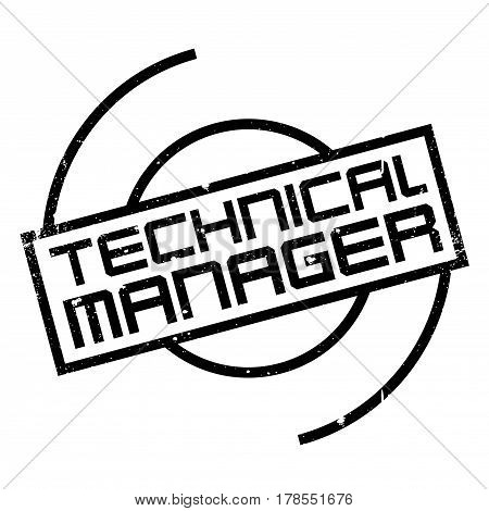 Technical Manager rubber stamp. Grunge design with dust scratches. Effects can be easily removed for a clean, crisp look. Color is easily changed.
