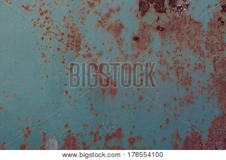 Green metal corroded rusty texture background for designers